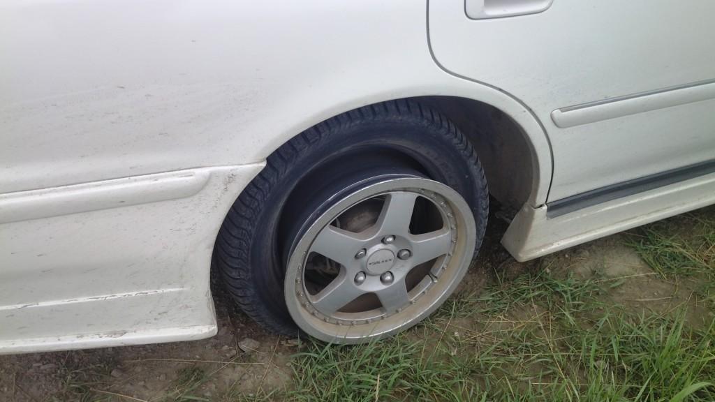 разрыв колеса